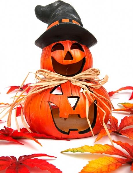 smiling halloween decoration