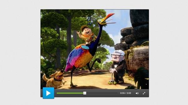 Smooth Video Player UI PSD