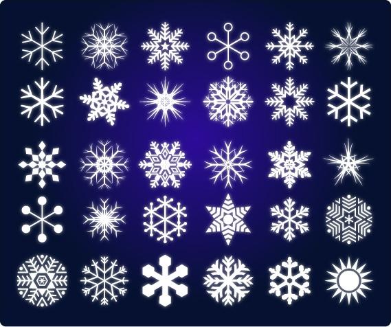 snow of vector