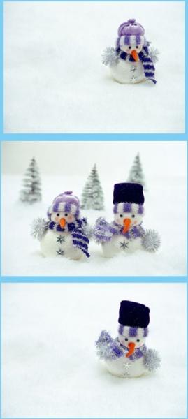 snow snowman picture three