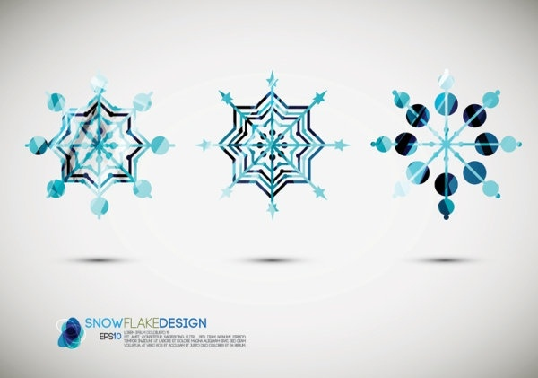 snow style icon 02 vector