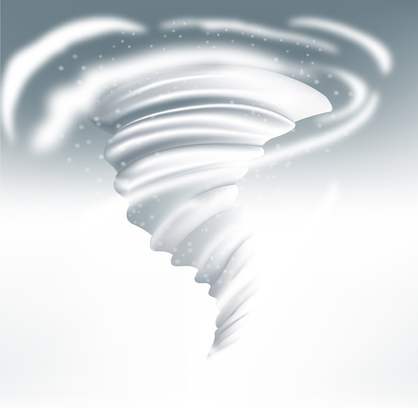 snow vortex vector illustration on white background