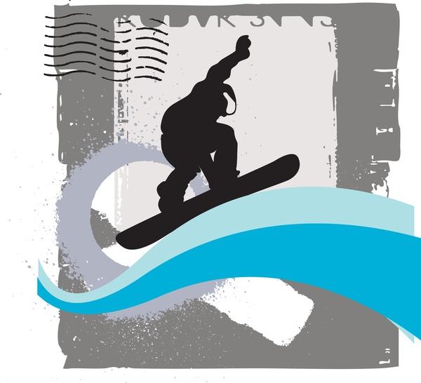 snowboarding vector free vector download  58 free vector