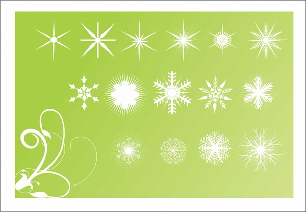 Snowflake element background