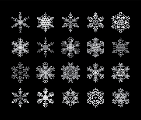 Snowflake Patterns Free Vector In Encapsulated PostScript Eps Eps Stunning Snowflake Patterns