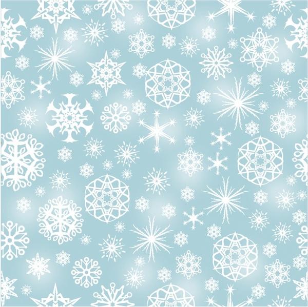 Snowflake Seamless Pattern