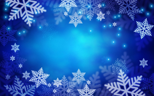snowflake with dream blue background vector