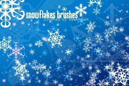 Snowflake Brushes for Photoshop