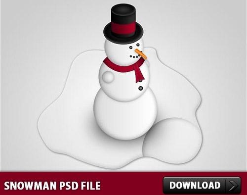 Snowman Free PSD File