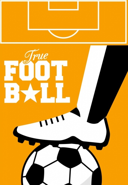 soccer background leg ball icon texts decor