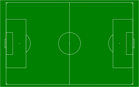 Soccer Field Football Pitch Clip Art Free Vector In Open