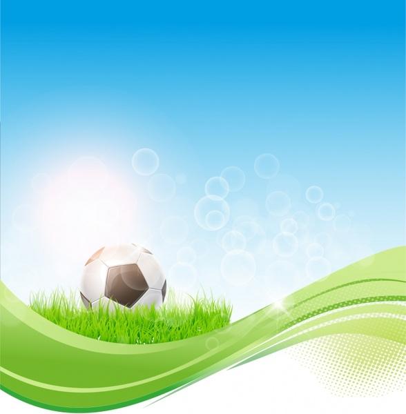 Soccer flow background