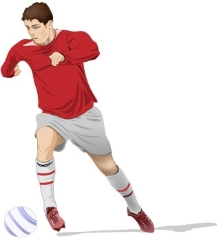 Soccer Player Vector Free Vector In Adobe Illustrator Ai Ai