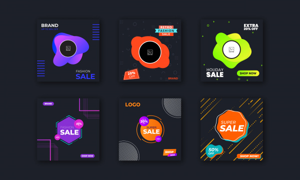 Social Media Post Design Template Collection Free Vector In Encapsulated Postscript Eps Eps Format Format For Free Download 5 67mb