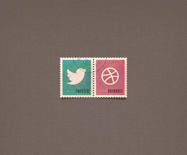 Social Media Postage Stamps