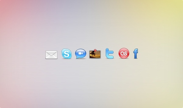 Social Networking Set icons pack