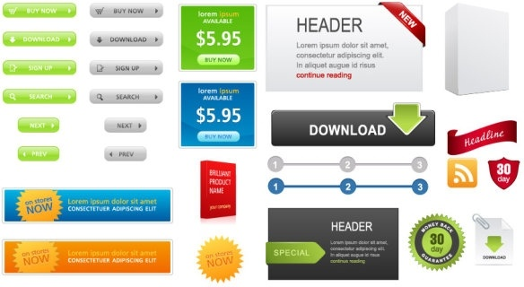 software sales company page element vector