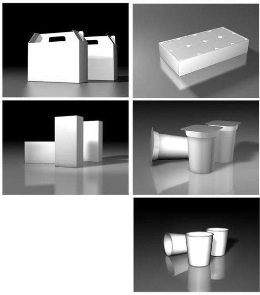 some packaging of threedimensional white version of the effect of convenience to understand threedimensional software design is affixed to the use of renderings