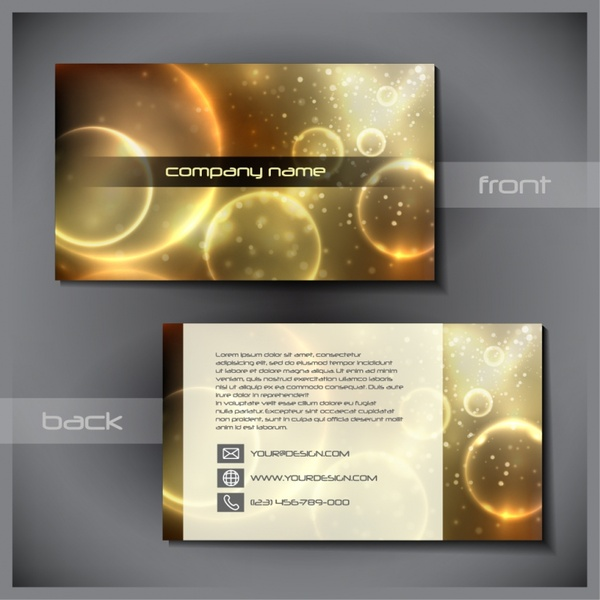 Sophisticated business card template vector glare free vector in sophisticated business card template vector glare colourmoves