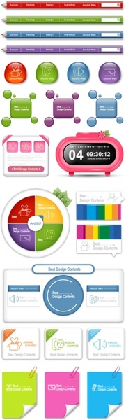 sophisticated navigation buttons vector