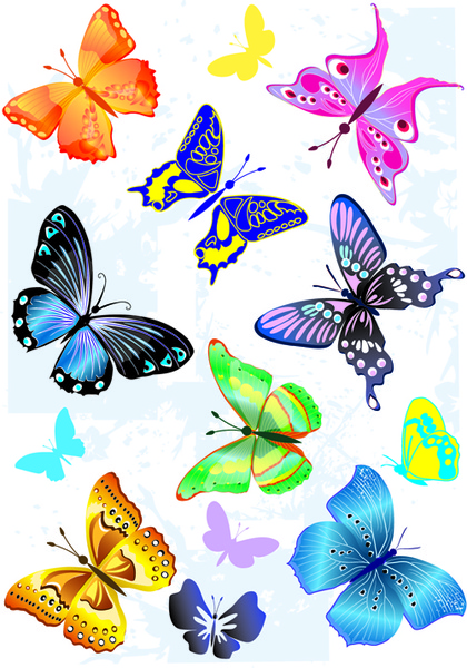Sorts of butterflies clip art vector Free vector in