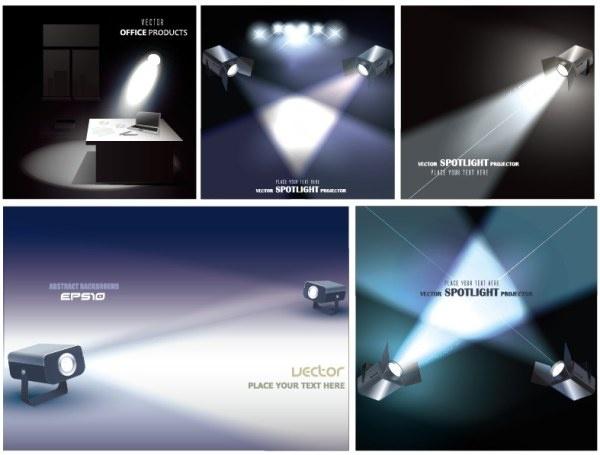 sorts of spotlight design vector