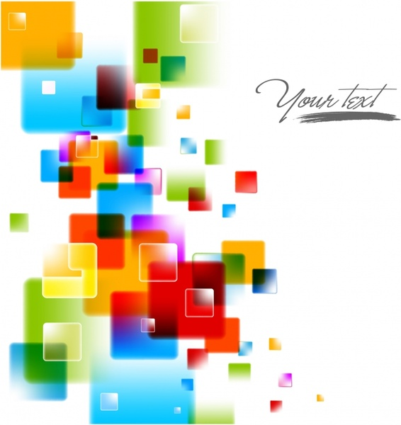 abstract background colorful blurred geometric decor