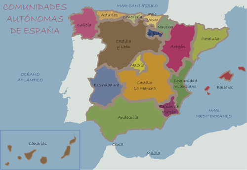 Map Of Spain Download Free.Spain Political Map Vector Free Vector In Encapsulated Postscript