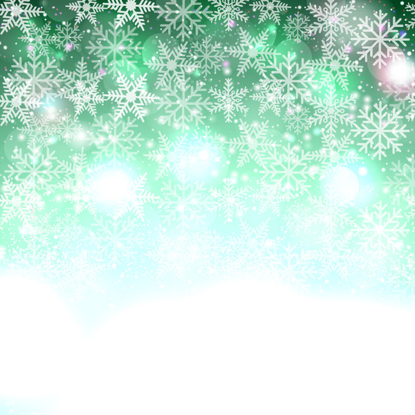 sparkling abstract snowflakes christmas background