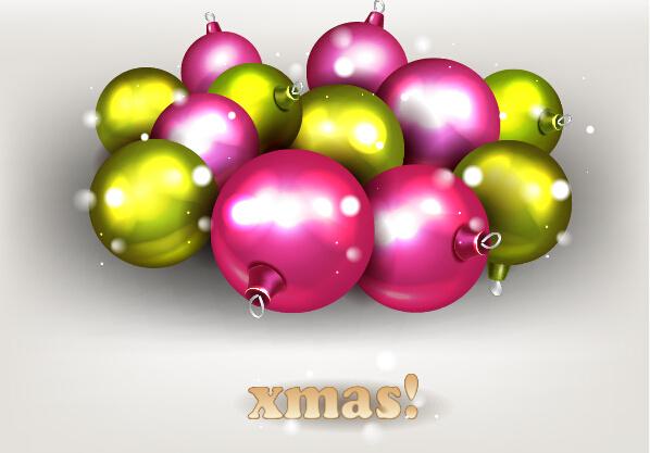 sparkling baubles christmas vector design