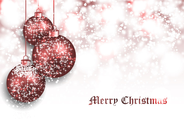sparkling blurred background with shiny christmas balls