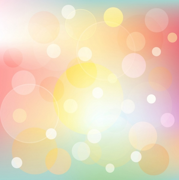 sparkling colorful bokeh background