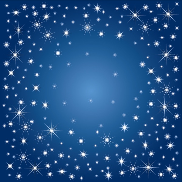 Stars background sparkling blue white ornament Free vector ...