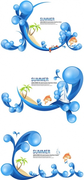 special summer theme vector