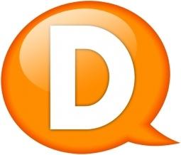 Speech balloon orange d