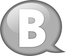 Speech balloon white b