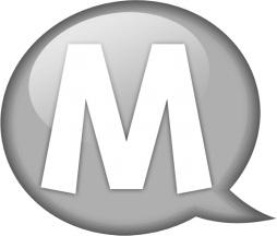 Speech balloon white m