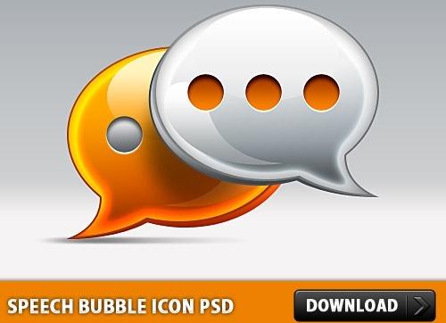 Speech Bubble Icon PSD