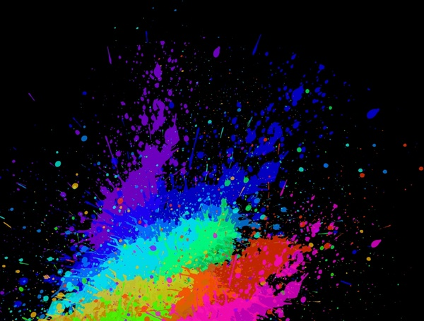 abstract background dynamic colorful ink splashing