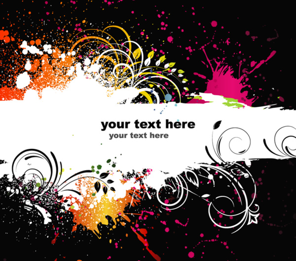 splash banner black background