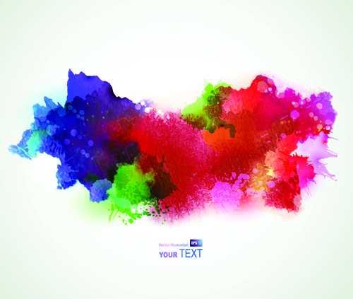 Splash Watercolor Stains Background Vector Free Vector In