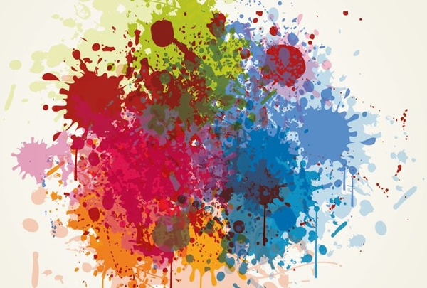abstract background colorful grungy style