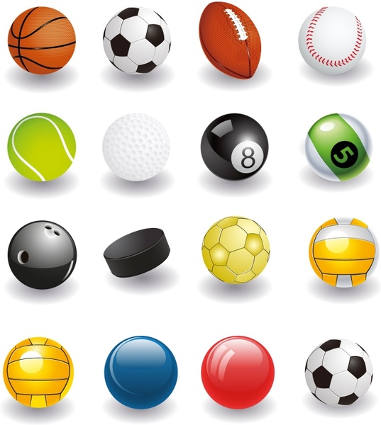 Sport Balls Free Vector In Adobe Illustrator Ai Ai Encapsulated Postscript Eps Eps Format For Free Download 5 41mb