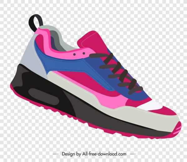 sport shoe template colorful modern sketch