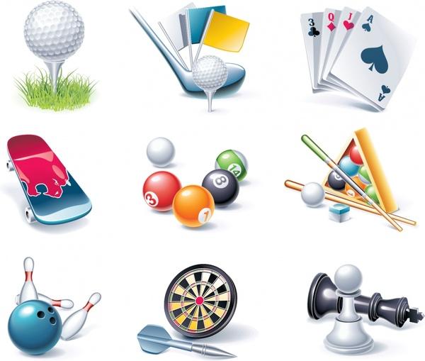 sports design elements modern colored 3d design