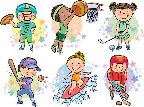 sports people cartoon vector