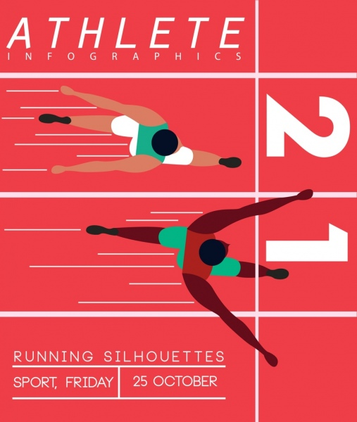 sports poster athlete icons runway background free vector in adobe