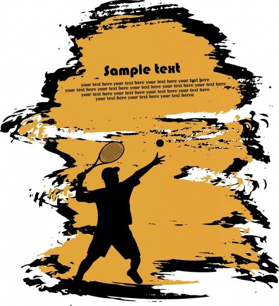 lifestyle background tennis sport theme silhouette dynamic design
