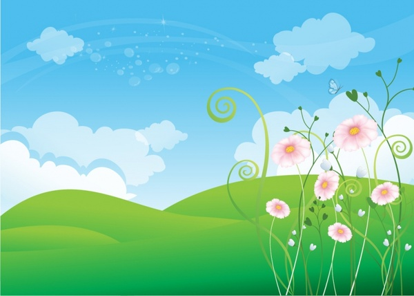 Spring Background Free Vector 213MB