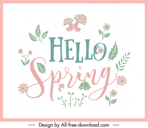 spring background classic natural plants elements